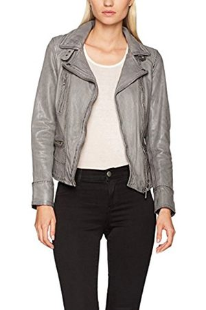 Oakwood Women's Leather Video Biker Jacket Gris (Anthracite)